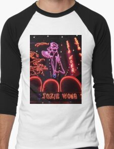 Suzie Wong's bar on Soi Cowboy (vertical) Men's Baseball ¾ T-Shirt