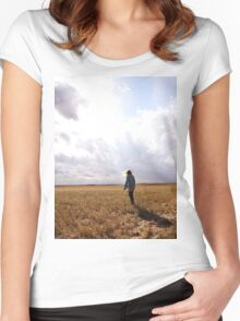 Into the Light We Scream Women's Fitted Scoop T-Shirt