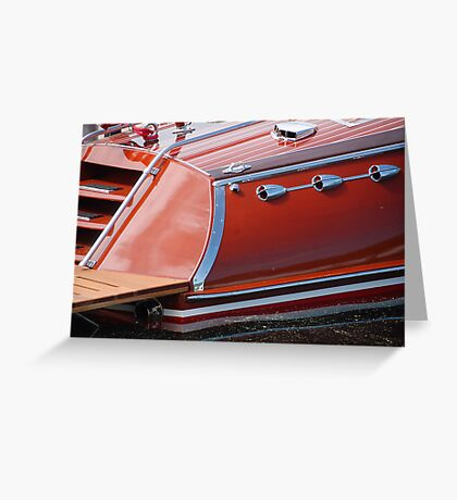 Stern Hacker Runabout Greeting Card