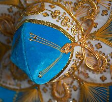 Blue and Gold Mexican Sombrero by tonipix