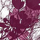 Burgundy Branches and Leaves by tonipix