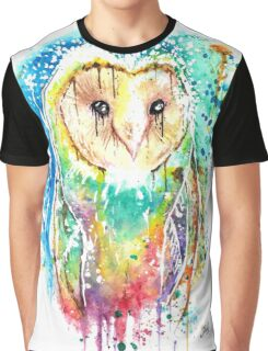 SNOW OWL - Watercolor bird painting - artwork by Jonny2may Tshirts + More! Graphic T-Shirt