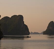 Dusk on Halong Bay by byronbackyard