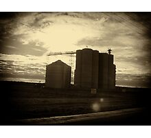 Grain Silos Photographic Print
