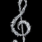 Metal Treble Clef by Anthony McCracken