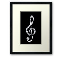 Metal Treble Clef Framed Print