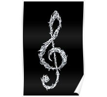 Metal Treble Clef Poster
