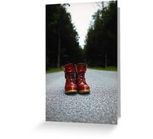 Swamp Boots Greeting Card