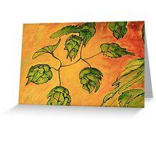 Beer Hops VII Greeting Card
