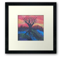Tree Of LIfe Abstract Landsacpe Framed Print