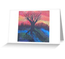 Tree Of LIfe Abstract Landsacpe Greeting Card