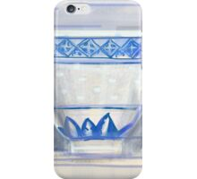 Blue and white cup iPhone Case/Skin