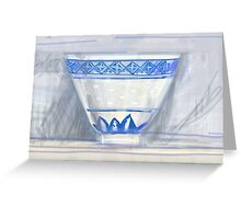 Blue and white cup Greeting Card
