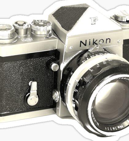 Nikon F SLR Camera Sticker