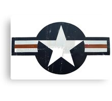 USAF - Worn and faded but still Proud in white Canvas Print