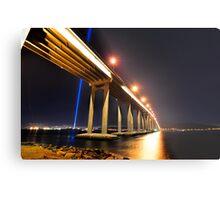 Tasman Bridge Dark MoFo spectra lights  Metal Print