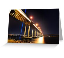 Tasman Bridge Dark MoFo spectra lights  Greeting Card