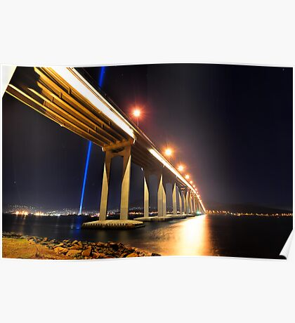 Tasman Bridge Dark MoFo spectra lights  Poster