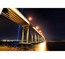 Tasman Bridge Dark MoFo spectra lights  Photographic Print