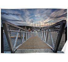 Pontoon Walkway, Bellerive Quay, Tasmania Poster