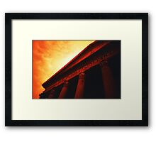 Atop the Pillars of Pantheon Framed Print