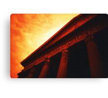 Atop the Pillars of Pantheon Canvas Print