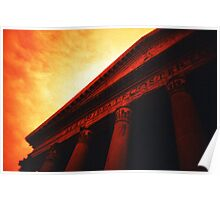 Atop the Pillars of Pantheon Poster