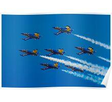 Team Breitling L-39C 7-ship Formation Poster