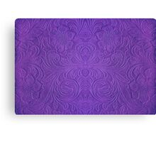 Purple Tones Suade Leather Embossed Floral Pattern Canvas Print