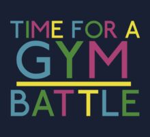 Time For A Gym Battle - Neon by JoeDesigns