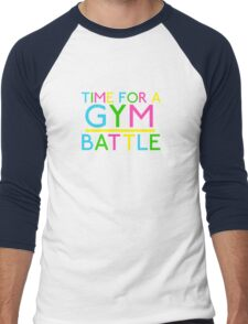 Time For A Gym Battle - Neon Men's Baseball ¾ T-Shirt