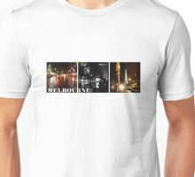 Melbourne shines at night (horizontal) Unisex T-Shirt