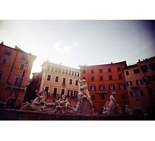 Fountain of Neptune - Lomo Photographic Print