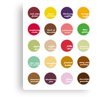 All Day I Dream About Sweets Canvas Print