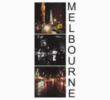 Melbourne shines at night 2 by Linda Lees