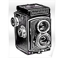 Rolleicord Twin Reflex Camera Poster