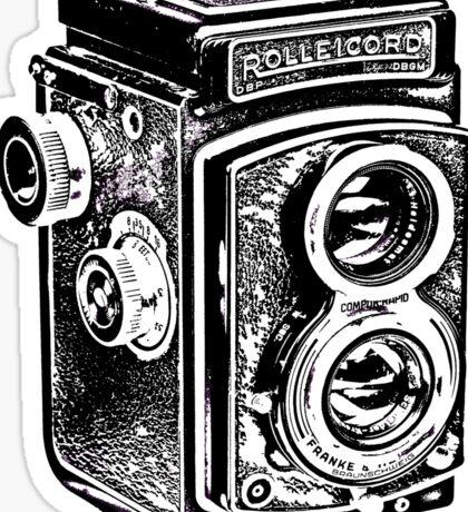 Rolleicord Twin Reflex Camera Sticker