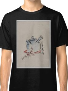 Teapot with cherry or plum blossoms 001 Classic T-Shirt