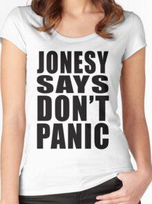 Jonesy says Don't Panic Women's Fitted Scoop T-Shirt