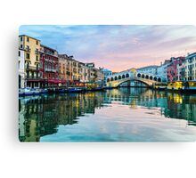 Sunrise at the Rialto Bridge, Venice Canvas Print