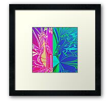 Abstract Spider Web Framed Print