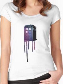 Bleeding Tardis Women's Fitted Scoop T-Shirt
