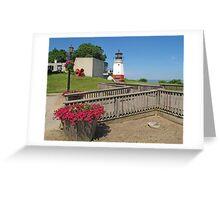 Vermilion Replica Lighthouse Greeting Card