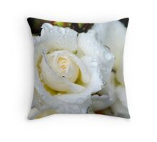 Raindrops and Roses Throw Pillow