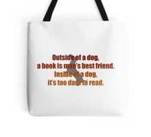 Dogs and Books Tote Bag