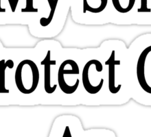 I Will Teach My Son To Protect Cows As Much As I Do Sticker