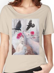 ~ The White Deer ~ Women's Relaxed Fit T-Shirt