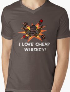 I Love Cheap Whiskey! Mens V-Neck T-Shirt