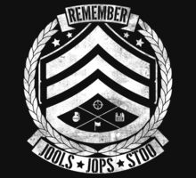 Remember Jools, Jops & Stoo - White by RetroReview