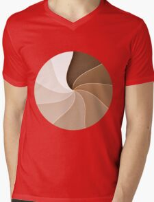Swirls Mens V-Neck T-Shirt